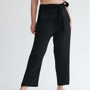 Wilfred Tie-Front Pant Black Size 4